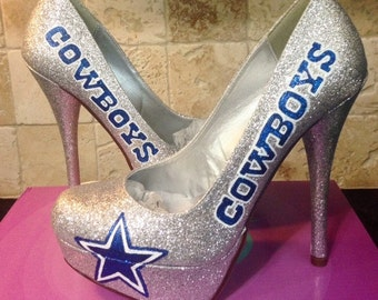 Dallas Cowboys Glitter heel