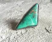 Large Vintage Turquoise Silver Ring
