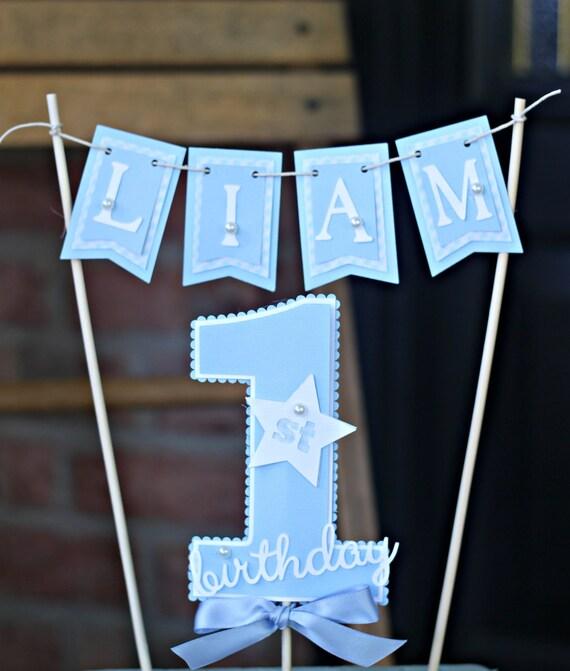 Boy 1st Birthday 1st Birthday Cake Topper Smash Cake First