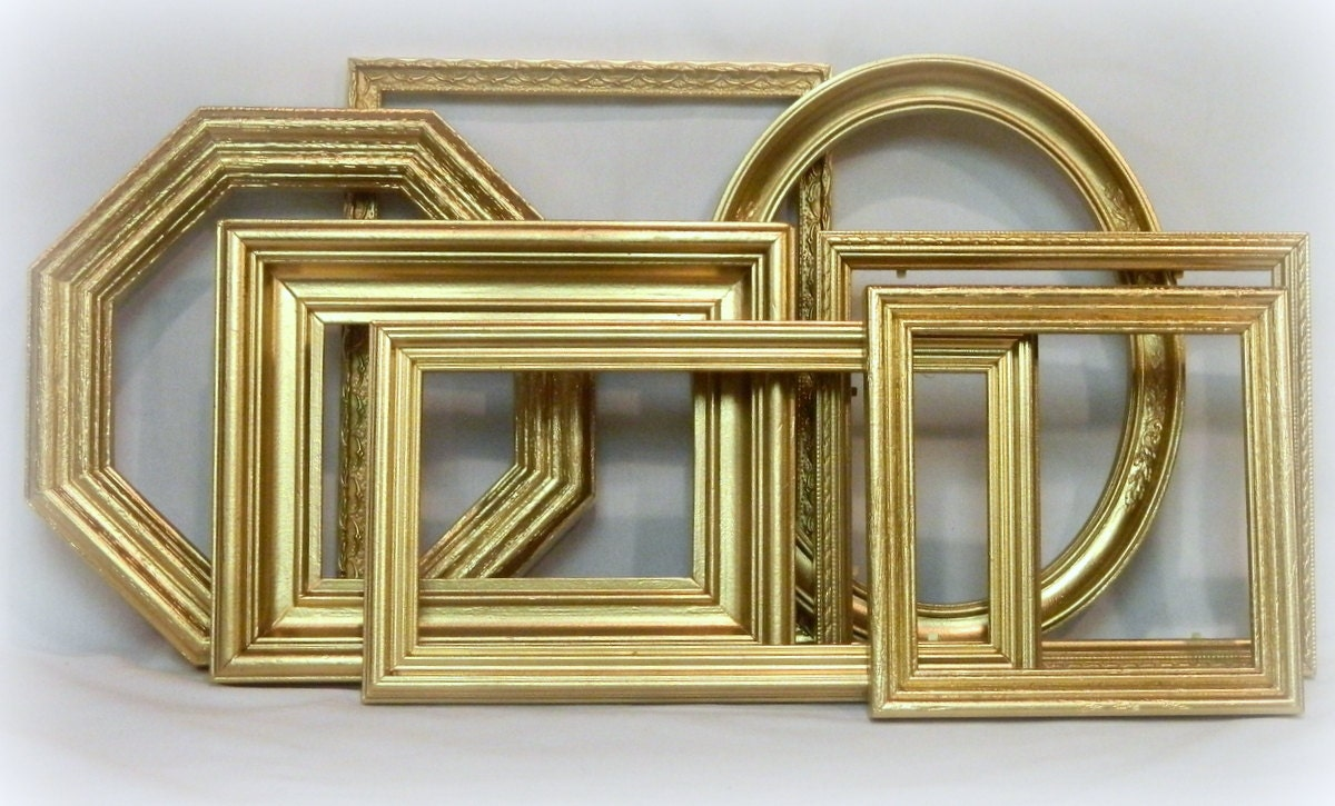 Picture Frame Set Gallery Wall Frames Collage 7 Gold Frames
