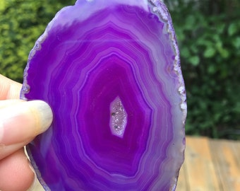 Small Dyed Purple Agate Slice