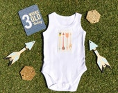 Arrow Bodysuit Onesie Romper - Cream and...