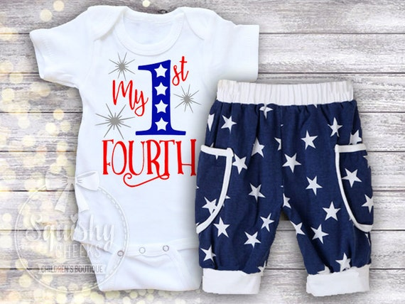 You searched for: 4th of july outfit! Etsy is the home to thousands of handmade, vintage, and one-of-a-kind products and gifts related to your search. 4th of july outfit baby boy 4th of july outfit baby girl 4th of July Outfit, Baby Girl 4th of July Bodysuit, Star Spangled Babe, Patriotic, Red White and Blue, Optional Bloomer Set.