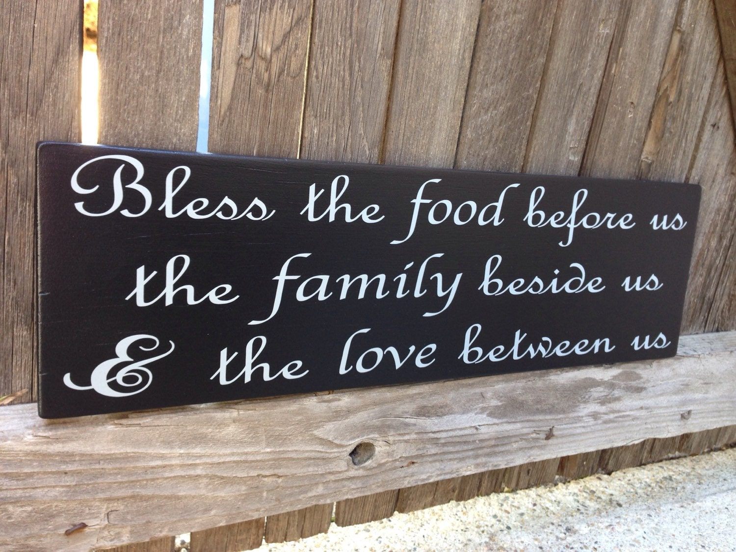 Bless the Food Before Us Sign Bless this Food Wood Sign