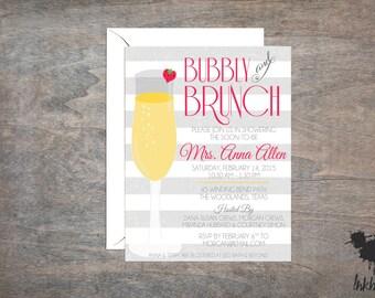 Bubbly & Brunch Shower Invitation (25 Invitations)