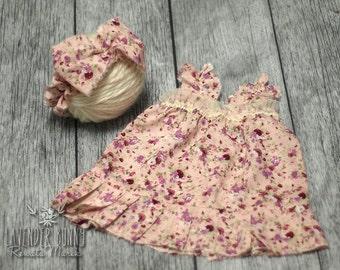 set dress+hairband purple newborn photo props