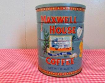 Vintage Maxwell House Coffee Tin Vintage Tins