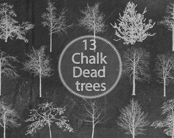 Chalk Dead Trees