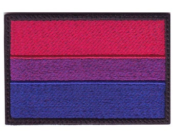 Bisexual Gay Pride Flag Embroidered Patch