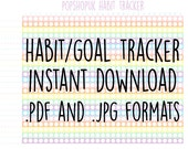Habit Goal Tracker 30 Day Challenge ~ Printable Checklist PDF Instant Download ~ 2016 Planner ~ Self Improvement ~ Holistic Habits ~ Care
