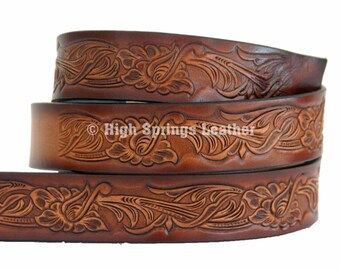 Western Design Leather Name Belt DF