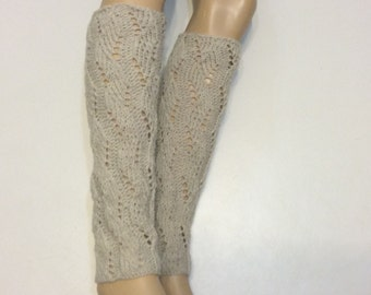 Knitted Legwarmers, Leg warmers boot womens leg warmers, Natural Heather color or Select Color