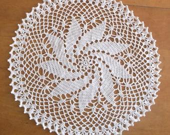Crochet Doily in Ecru Natural Cream