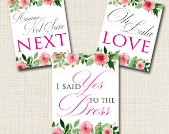 Yes To The Dress Signs, Yes to the Dress Paddle Game, INSTANT DOWNLOAD, Bridal Game, Wedding Dress Sign, Bridal Dress Shopping, Bride to Be