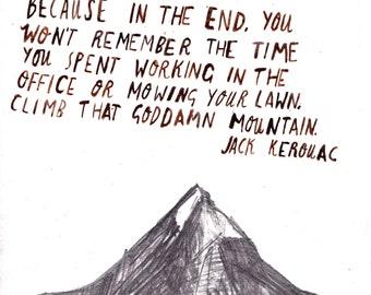 Jack Kerourac Postcard