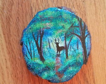 Small Wooden Forest Wall Hanging.