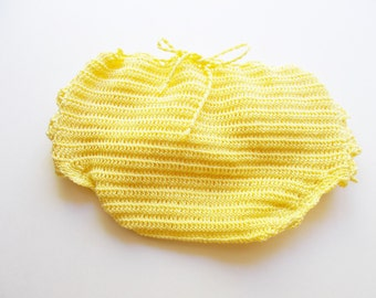 Baby bloomers, Ruffles bloomers,Yellow ruffle bloomer, diaper cover, infant girl, New Born Baby Bloomers