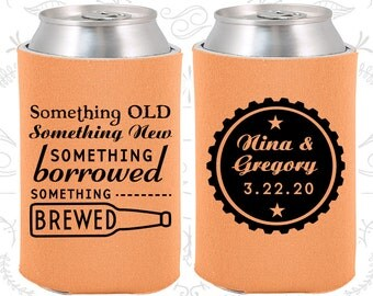 Peach Wedding, Can Coolers, Peach Wedding Favors, Peach Wedding Gift, Peach Wedding Ideas (265)