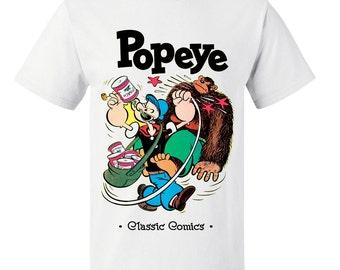 Boys or Girls Popeye Stars Kids T Shirt