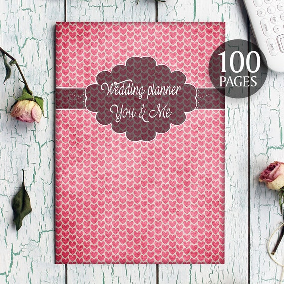 Printable Wedding Planner Binder Planning A Rustic: Hearts Wedding Planner Rustic Hearts Wedding Kit Red By
