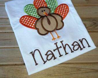 Boys Thanksgiving Turkey Shirt