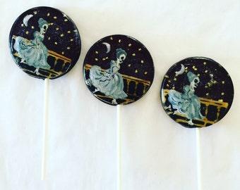 3 The Clock Strikes Midnight Cinderella Skeleton Halloween Lollipops