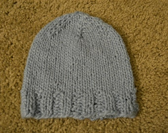 Hand Knitted Baby Boy Hat