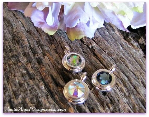 Swarovski crystal bezel charm to add to your jewelry design