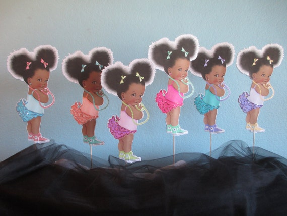 African American Cupcake Toppers12african American Baby