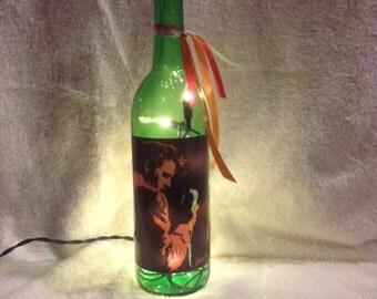 Elvis Presley 750 ml. Lighted Wine Bottle