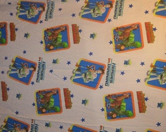 Toy Story Heroes in Training with  Woody Buzz Lightyear and Twin Flat Sheet