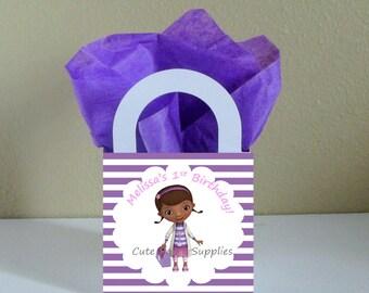 SALE! Small Boxes 3x3x2.5 inches 12 Personalized Doc Mcstuffins Favor Boxes Doc Mcstuffins Favor Bags Doc Mcstuffins Popcorn Box Party Favor