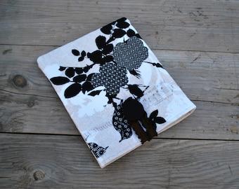 GARAGE SALE! Fabric iPad Mini sleeve, Birds, Music and Butterflies, Ipad Mini Fabric Case, Cotton Sleeve, Device Sleeve, Kindle  sleeve