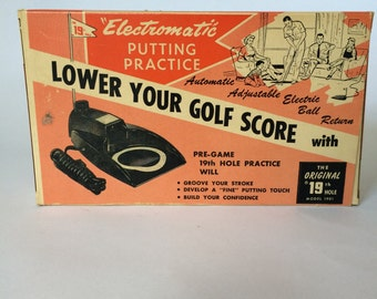 Vintage Electromatic Putting Practice with Auto Ball Return in box