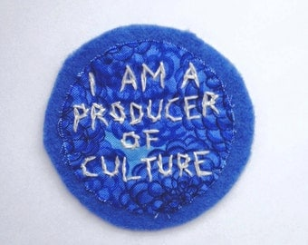 FREE SHIPPING Producer of Culture Patch