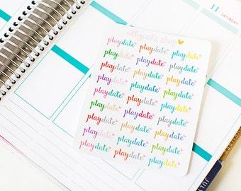 Playdate Stickers - Planner Stickers