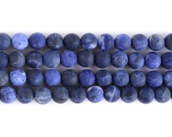 """8MM110 Frosted sodalite round ball loose gemstone beads 16"""""""