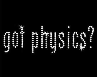 Rhinestone Transfer - Hot Fix Motif - Got Physics