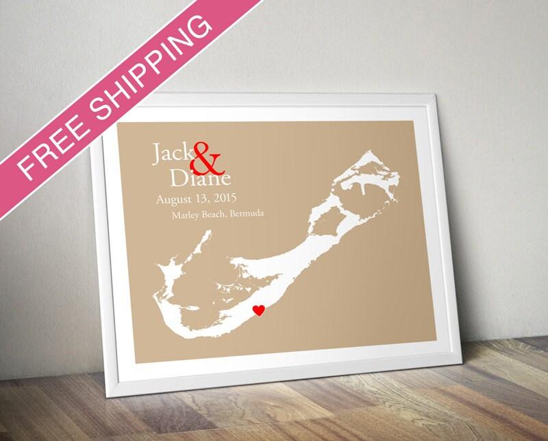 Unique Wedding Gifts Au : Custom Wedding Gift : Personalized Wedding Location and
