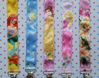 Disney Princess & Fairies  Pacifier/Toy Clips - you pick your favorite!