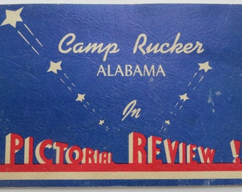 1940's WW II Era US Army Camp Rucker Alabama Guide - Free Shipping