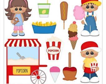 DIGITAL SCRAPBOOKING CLIPART - Fair Food
