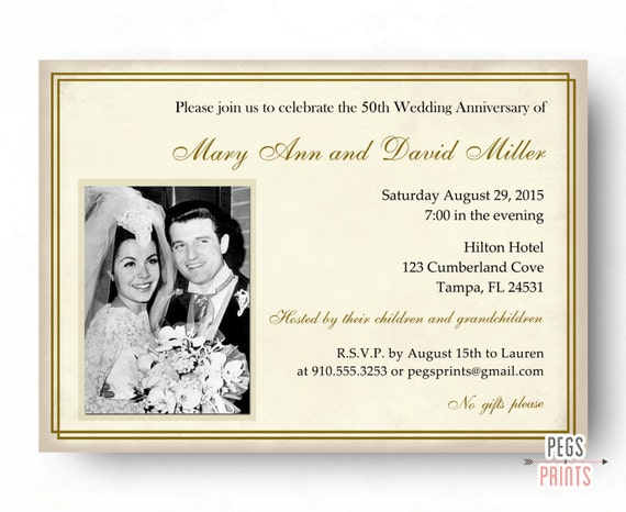 50th Wedding Anniversary Invitations 50th Anniversary – Anniversary Invitations