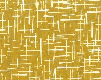 Half Yard - 1/2 Yard of Haystack in Gold - HOUSE OF HOPPINGTON by Violet Craft - Michael Miller Fabrics