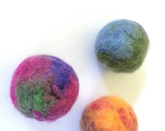 Bouncy Super Balls Cat Toys Pick 1 Felted Wool Ball Optional Catnip
