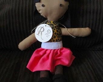 "14"" Fabric Doll-Jaqueline"