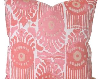 Bazaar Melon-High End Designer Decorative Pillow Cover-Indoor/Outdoor-Perennials-Single Sided