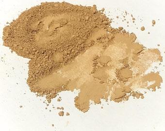 NEUTRAL TAN Titanium Free Mineral Foundation - Multi Tasking Loose Powder - Gluten Free Vegan Makeup