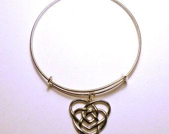 Celtic Motherhood Knot Bangle Bracelet