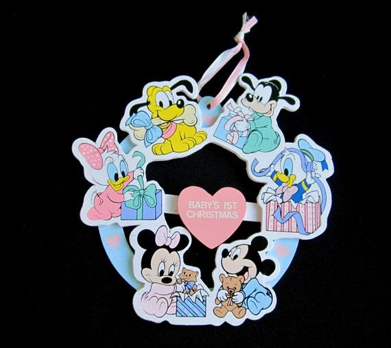 Used Disney Christmas Decorations: Babys First Christmas Ornament 1984 The Walt Disney Company